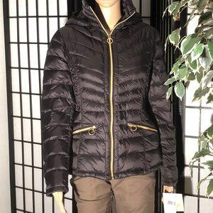 NWT Michael Kors Black packable down jacket Sz M